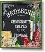 Brasserie Paris Metal Print by Debbie DeWitt