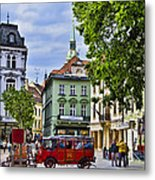 Bratislava Town Square Metal Print by Jon Berghoff