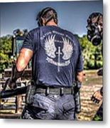 Breaching With Baton Rouge Swat Metal Print
