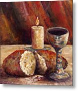 Bread And Wine Metal Print