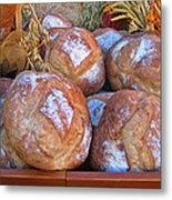 Bread At A French Market Metal Print