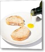 Bread With Olive Oil Metal Print