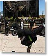 Break Dancer  Columbus Circle Metal Print