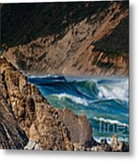 Breakers At Pt Reyes Metal Print by Bill Gallagher