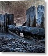 Breakers At Whitefish Point Michigan Metal Print