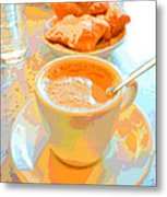 Breakfast At Cafe Du Monde Metal Print