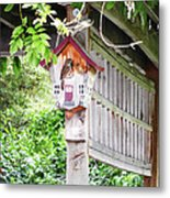 Breakfast At The Birdhouse Metal Print