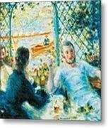 Breakfast By The River Metal Print by Pierre-Auguste Renoir
