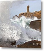 Breaking Of Waves Metal Print