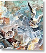 Breaking The Ice On Lake Constance Metal Print