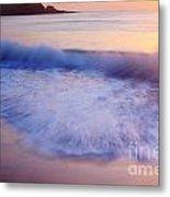 Breaking Wave At Sunrise Metal Print