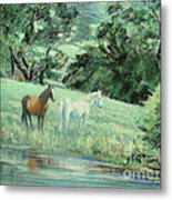 Breathing In Strength Unsaddled Metal Print