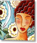 Breathing in the Moment Metal Print