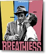 Breathless Movie Poster Metal Print