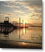 Breathless Reflections On The Beach Metal Print