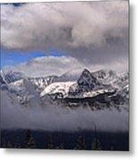 Breckenridge And Clouds  Metal Print