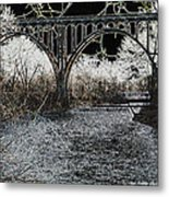 Brecksville Bridge Metal Print