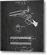 Breech Loading Shotgun Patent Drawing From 1879 - Dark Metal Print