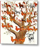 Breeds Tree Metal Print