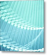 Breeze Vi - Turquoise Abstract Metal Print by Natalie Kinnear