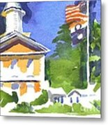 Breezy Morning At The Courthouse Metal Print