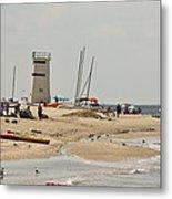 Breezy Point Lighthouse Bayside Metal Print