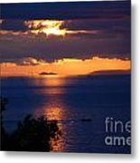 Brela Sunset Croatia Metal Print