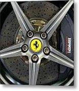 Brembo Carbon Ceramic Brake On A Ferrari F12 Berlinetta Metal Print