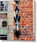 Bremen Musicians Statue Metal Print