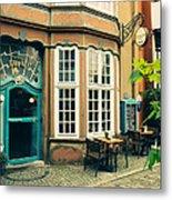 Bremen Schnoor Cafe Metal Print