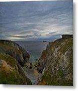 Bretagne Cliffs Metal Print