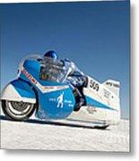 Brett De Stoop On His Suzuki Gt 750 At Speed Metal Print