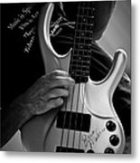 Brian Melvin Autographed Guitar Metal Print