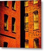 Brick And Glass Metal Print