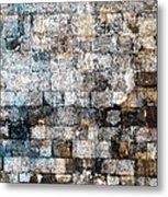 Brick Mosaic Metal Print by Stephanie Grant