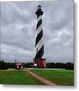 Brick Pathway To The Lighthouse Metal Print