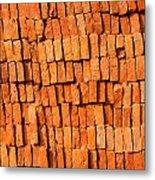 Brick Stack Metal Print