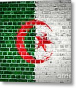 Brick Wall Algeria Metal Print