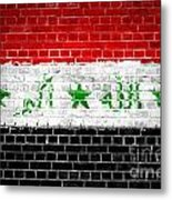 Brick Wall Iraq Metal Print