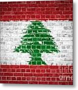 Brick Wall Lebanon Metal Print