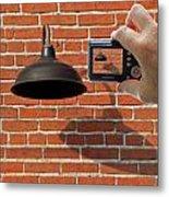 Brick Wall Snap Shot Metal Print