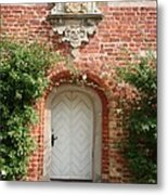Brickcastle And White Door Metal Print