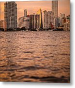 Brickell Sunset Metal Print