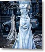 Bridal Dress Window Display In Ottawa Ontario Metal Print