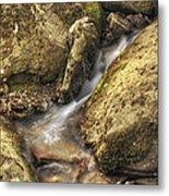Bridal Veil Stream And Mossy Rocks - Heber Springs Arkansas Metal Print