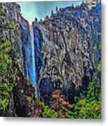Bridalveil Falls In Yosemite Valley Metal Print