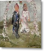 Bride And Groom Metal Print