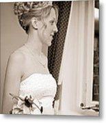 Bride Awaits Her Groom Metal Print
