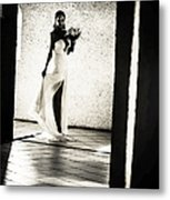 Bride. Black And White Metal Print