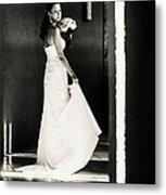 Bride I. Black And White Metal Print